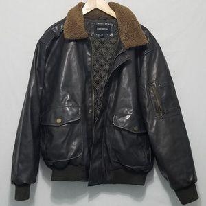 Black Leather Jacket W/ Neck Warming Collar